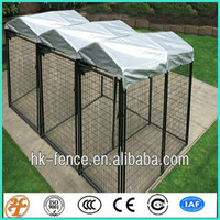 temporary fence 5'x10'x6' dog kennels with solid roof