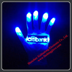 fashional light up red gloves