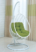 2015 New product egg shaped hanging chair white color