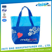 Promotional recyclable girl shopping cotton bags