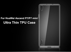 New 0.6mm Ultra Thin Soft TPU Gel Crystal Clear Case For HuaWei Ascend P7/P7 mini