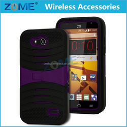 Best price for ZTE N9101 with horizontal stand pc + silicone dual layers armor mobile cell phone covers cases