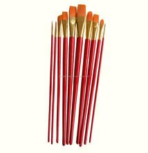 nylon hair oil /acrylic /gouache/water color artist paint brush set