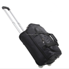 Black Rolling Suitcase Bag Mens Carry-On Backpack Trolley Luggage Case