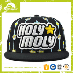 2015 new fashion Custom Design 6 Panels snapback hats