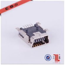 5 pin female micro usbused wire connector micro usb b type solder usb 5pin male plug socket connector