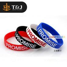 >>2015 Trendy Charms Hologram Bracelet LeBron Jame I Promise Basketball Sport Hologram wristbands-