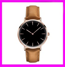 New leather big dial face 24k gold watches quartz watches ,big mens watches big wrists