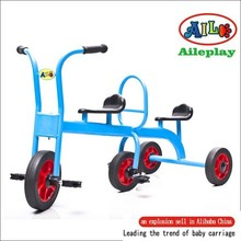 twins children tricycle metal pedal tricycle preschool tricycle