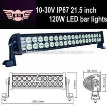El precio de fábrica 10-30v 120w 8000lm 21.5 pulgadas barra de luces led para camiones