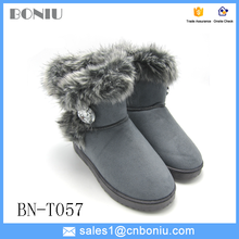 Factory wholesale direct cheap warm snow boots without logo