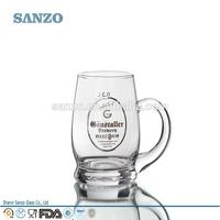 Sanzo Custom Glassware Manufacturer german beer handle glass mug beer glass with handle MG11809