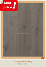 Wide plank smoked oak lumber floors