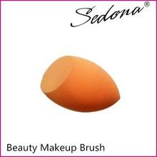Light orange customize shape and color sponge puff,sponge for makeup with PU material ,latex free powder puff make up sponge