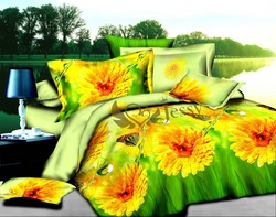 factory price 3d bedding set, beautiful bed cover, home use textiles