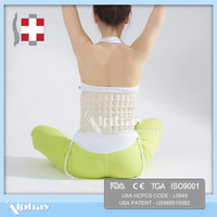 lumbar back support to treat pain in the hip caused by herniated discs