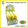Most Popular Wind Up Chicken/Bunny Hopping Animal Candy Toy Easter
