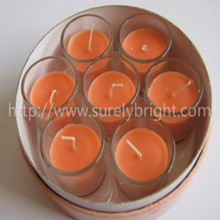 decorativos de vidrio velas de citronela