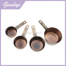 Hot Sale Passed FDA Or LFGB Digital Stainless Steel 4pc Copper Measuring Cups