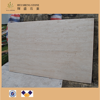 Iran Imported Polished Super White Beige Travertine Floor&Wall Composite Marble Tile