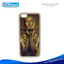 Hot selling sublimation bling shining mobile phone case for iphone 5C/5S
