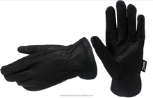 Mechanical working glove comfortable Leather glove breathing Industrial glove