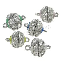 Zinc Alloy Magnetic Clasp with Mideast rhinestone