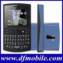 Cheap Stylish Qwerty Keyboard Quad Band Dual SIM Card TV OEM Cell Phone Asha205