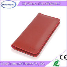 Alibaba China Supplier Popular Handmade PU Leather Wallet Mobile Phone Leather Case For phone