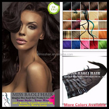 Alibaba Trade Assurance Paypal Accepted Soft Smooth Silky Straight Grade 6A Clip-Hair-Extension Set Dark Brown