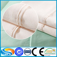 Flat and fitted Bed Sheets White and pastel colors bedding set fabric