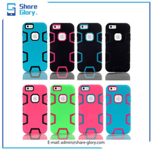 Full cover Case for iphone 6 plus Three in One Shockproof Phone Cover 01