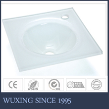 China hangzhou factory cheap small size north American style corner counter top basin for bathroom cabinet