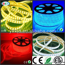 Hot sale waterproof 5050 led strip 110V 220V white PCB ip65 silicone & pvc tube waterproof smd5050 led strips with long lifespan