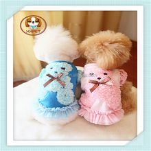 2015 Hot Sale Best Quality Cheap puppy girl dog clothes winter dog dress