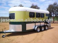 Three axles horse trailer - 4 horse angle load deluxe