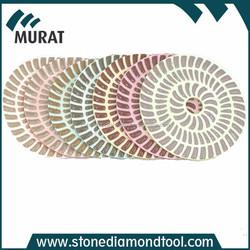 China New Diamond Polishing Pad Sunflower Dry Resin Diamond Polishing Pads for Granite