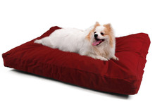 medium size bed for cute lovely dog Waterproof Orthopedic Memory Foam Pad Pet Dog Bed with color cover