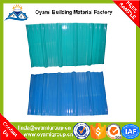 Construction materials wholesale heat resistance pvc decorative sheet for roof for industrial warehosue