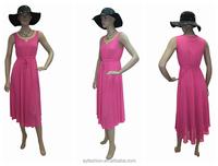 Wholesale lady fashion casual vintage retro clothing silk dress fashion women dress
