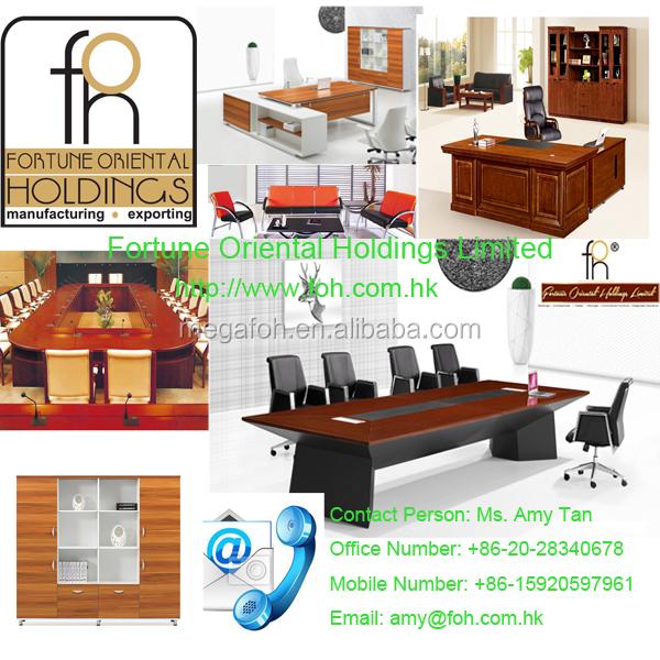 Luxury high end mahogany presidential desk custom office furniture(FOH-A9A361)