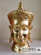 WUTIAN Beautiful Brass Buddha Head Statue