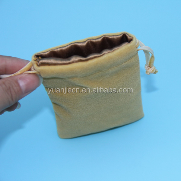 Promotional Economic Top Sell Small Velvet Drawstring Pouch Bag