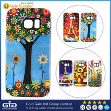 TPU+PC 2 in 1 Phone Case with Unique Oil Painting Series by 3D Printer for Samsung for Galaxy S6 Edge Case