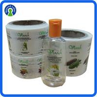 Custom high quality cosmetic sticker printing, waterproof PE cosmetic sticker, vinyl cosmetic packing label sticker roll
