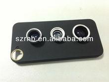3 in 1 Wide Angle Lens + Macro Lens + 180 Fish Eye Lens Kit zoom lens for iphone case dropship