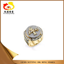 Personality new style Lakers trophy symbolized success 18k diamond ring