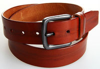 Fashion genuine leather homemade male chastity belt