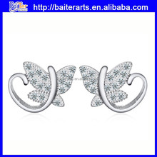 Wholesale 925 Sterling Silver Butterfly Small Animal Shaped Earrings