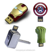 Hot sale!!Avengers Iron Man 4GB-32GB USB 2.0 Enough Memory Stick Flash Pen Drive